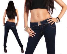 Damen-Röhrenjeans mit niedriger Bundhöhe (en) Hosengröße 38
