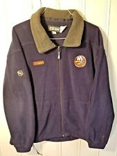 New York Islanders CCM Fleece Full Zip Jacket - Size Medium - Color Navy Blue