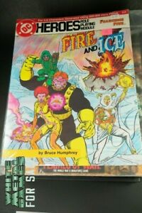 1986 DC Heroes Role Playing Game FIRE AND ICE MFG215 Fearsome Five USED