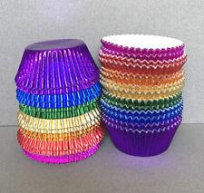 Rainbow Foil Cupcake Liners, Rainbow Cupcake Wrappers, Rainbow Baking Cups