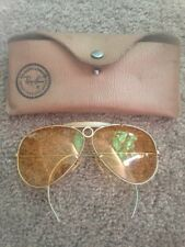 Ray Ban B&L Aviator Sunglasses Kalichrome Bullethole Yellow Lenses