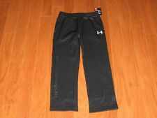 Boys Under Armour Athletic Pants Size 5 Gray Fleece Lined Sweat Pants
