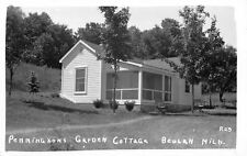 Beulah Michigan~Pennington's Garden Cottage~1940s  Postcard RPPC