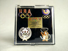 Olympic PINS vintage 1988 Cloisonne Mascots CALGARY WINTER collector set of 4