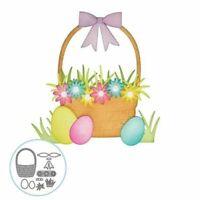 Flower Basket Cutting Dies Easter Egg Card Paper Craft Card Making Decoration