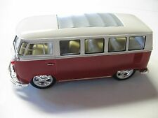 WELLY 1:24 SCALE '63 VW VOLKSWAGEN TI BUS W/ MAG WHEELS DIECAST W/O BOX NEW!