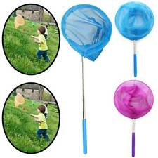 Kids Fishing Net Extendable Telescopic Pond Nets Sea Butterfly Insect Bug Mesh #