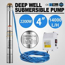 3HP 70M Submersible Bore Water Pump Deep Well Stainless Steel Irrigation 240V