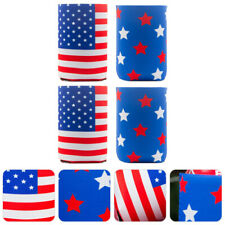 4pcs Beer Can Cover Independence Day Festival Exquisite Creative Cola Can Cover