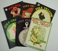 lot of 6 Vintage Tole Pattern Books