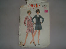 Vintage 1960s Sewing Pattern Short Skirt/Jacket with Pockets STYLE 2265 size 12