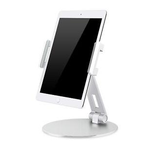 Tablet Handy Ständer Haltung Aluminium Silber Höhenverstellbar 360° drehbar THAS