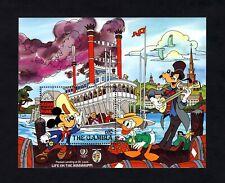 GAMBIA - 1985 - DISNEY - MICKEY - DONALD - TWAIN - PACKET BOAT - MINT S/SHEET!