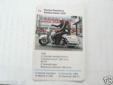 14-MOTOREN 1A HARLEY-DAVIDSON ELEKTRA GLIDE 1200 KWARTET KAART MOTORCYCLES,