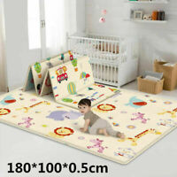 Double-sided Folding Baby Crawling Mat Cartoon Children Indoor Outdoor Play Mat