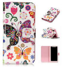 Luxury Painted Magnetic Leather Stand Case Cover For iPhone 8 5s SE 6s 7 Plus X