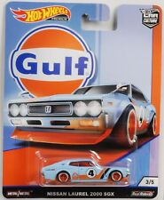 Gulf Nissan Laurel 2000 SGX 1:64 Car culture Real Riders Hot Wheels NEU FPY86