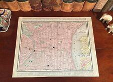 Original 1898 Antique Map PHILADELPHIA Pennsylvania PA Parks Historic Landmarks
