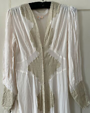 1930's Lingerie Gown. Crepe & Lace.
