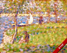 LA GRANDE JATTE ISLAND FRANCE IMPRESSIONIST PAINTING ART REAL CANVAS PRINT