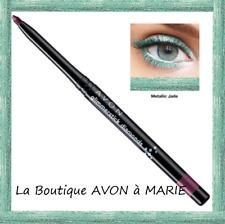Lápiz Eyeliner Ojos Brillo Verde Metálico Jade Diamond Avon
