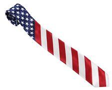 Men's Necktie / Neck Tie - USA Flag America United States Stars And Stripes