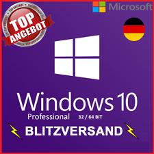 Microsoft Windows 10 Pro ✔ VOLLVERSION ✔ 32 / 64 Bit Product-Key Lizenz ✔