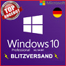 Microsoft Windows 10 Pro ✔ VOLLVERSION ✔ 32 / 64 Bit Product-Key Lizenz ✔