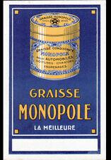 Publicité GRAISSE MONOPOLE pour AUTOMOBILE