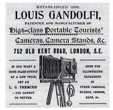 "Gandolfi Makers London vintage Folding Camera 5x4"" format"