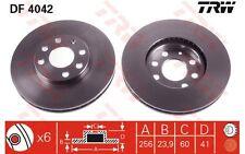 TRW Juego de 2 discos freno Antes 256mm ventilado CITROEN OPEL ASTRA DF4042