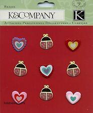 K & Company - 30-572850 - Mariquitas-Hearts & Mariquitas Brillo Brads