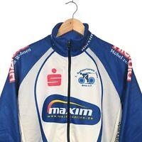 MAXIM Sports Wear Blue & White Full Zip Cycling Jacket - Size M/L