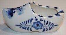 """Vintage Ceramic  Shoe Ashtray Holland Souvenir Hand Painted Delft Blue 4"""""""