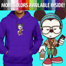 Disney Hipster Mickey Mouse Cute Gift Unisex Pullover Hoodie Hooded Sweater S~3X