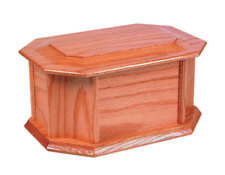OSWALD Wooden Ashes Casket either Mahogany or oak