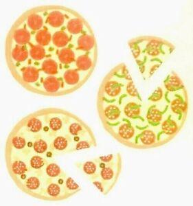 *SUPER RARE* Scratch 'n Sniff PIZZA SCENT Sandylion Stickers - 2 squares VINTAGE