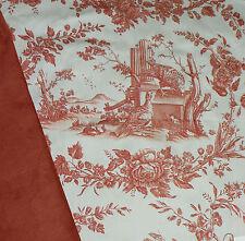 Thibaut Pheasant Toile Remnant Designer Fabric & Coord Suede Fabric