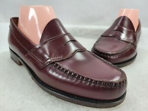 G.H. Bass And Co. Women Weejuns Maroon Leather Slip On Loafer Shoes Size US 8 D