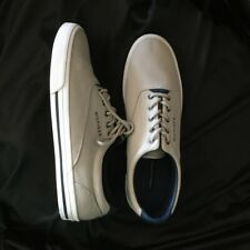 TOMMY HILFIGER NEW Mens SZ US 10 Low Rise Natural Navy Canvas Sneakers