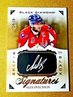 ALEX OVECHKIN 2015-16 Black Diamond Silver On Black Signatures Auto /20 GEM MINT
