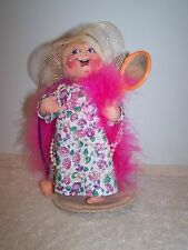 '00- '01 Annalee Girl With Floral Print Dress Boa Hat Necklace And Mirror
