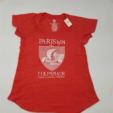 GAP Exclusive Women's Short Sleeve Red Paris 1924 Olympic Graphic Tee Shirt Med