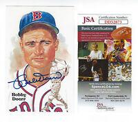 RED SOX Bobby Doerr signed 1987 Perez Steele postcard JSA COA AUTO Autographed