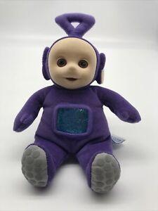 "Eden Teletubbies Flocked Faced Tinky Winky Purple 7"" Plush 1998"