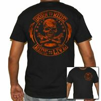 T Shirt Wide cycles Shirt Skull Motorcycle Tattoo Rocker Motorcycle biker