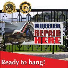 Muffler Repair Here Banner Vinyl Mesh Banner Sign Garage Auto Workshop Business