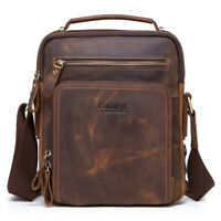 Mens Genuine NUBUCK Leather Tote Laptop Shoulder Messenger Briefcase Bag Handbag