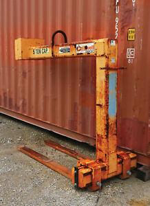 Caldwell Model 91-5-60 - 5-ton Standard Adjustable Forks Pallet Lifter
