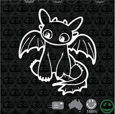 Toothless How To Train You Dragon Sticker Decal 150mmH Car Wall Art iPad macbook